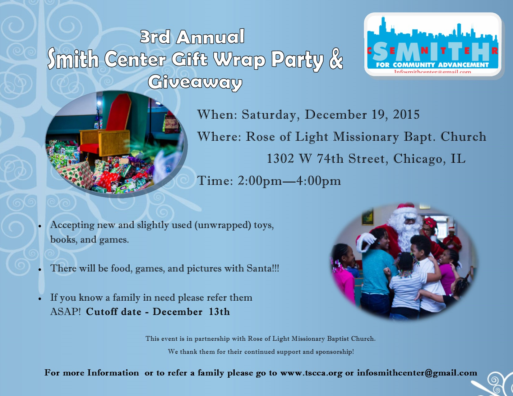 Toy giveaway for christmas in chicago